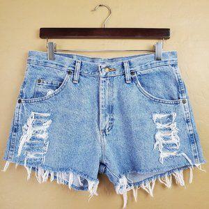 Wrangler Custom Distressed Cutoff Jean Shorts